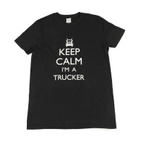 Men's white T-Shirt - Keep calm I'm a trucker