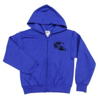 Children's Hooded Fleece Blue